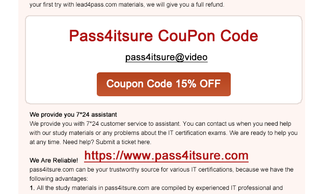 pass4itsure coupon