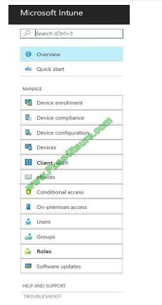 Pass4itsure Microsoft MD-101 exam questions q6