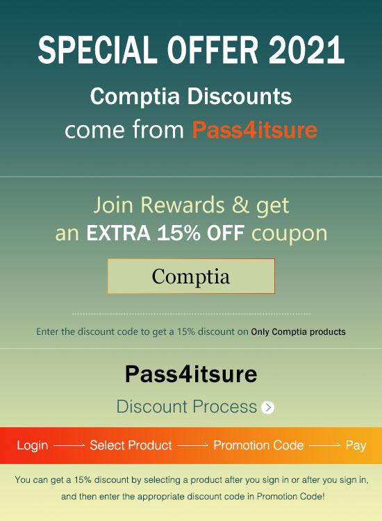 Pass4itSure CompTIA exam dumps discount code